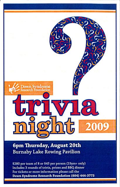 dsrf Trivia Night flyer